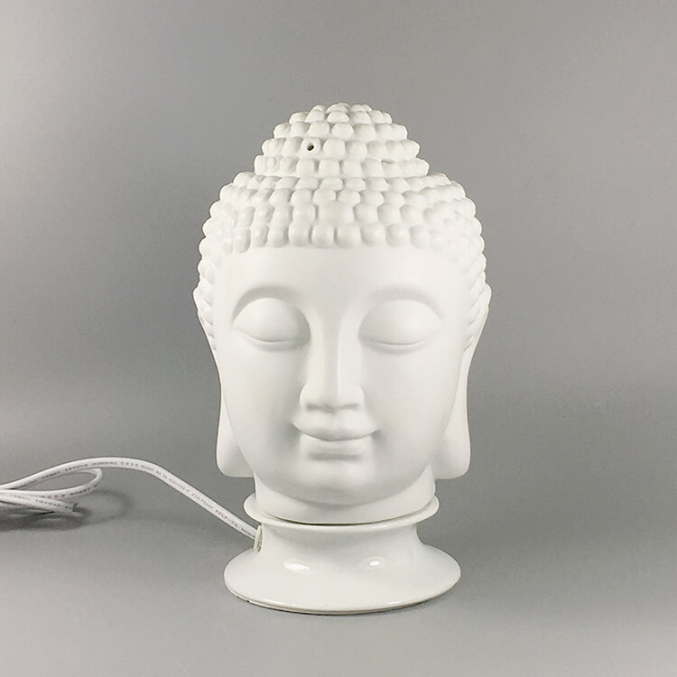 Electric Buddha Head Oil Burner Lamp