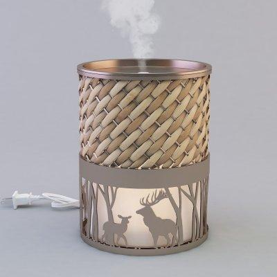 Metal aromatherapy ultrasonic diffuser with rattan GLEA2120M-Z