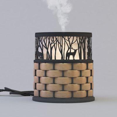 Wholesale decorative black color metal aroma diffuser GLEA2127M-Z