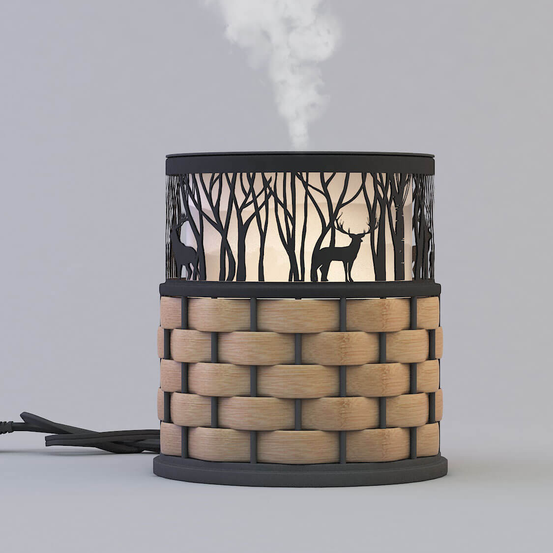 Wholesale decorative black color metal aroma diffuser GLEA2127M-Z