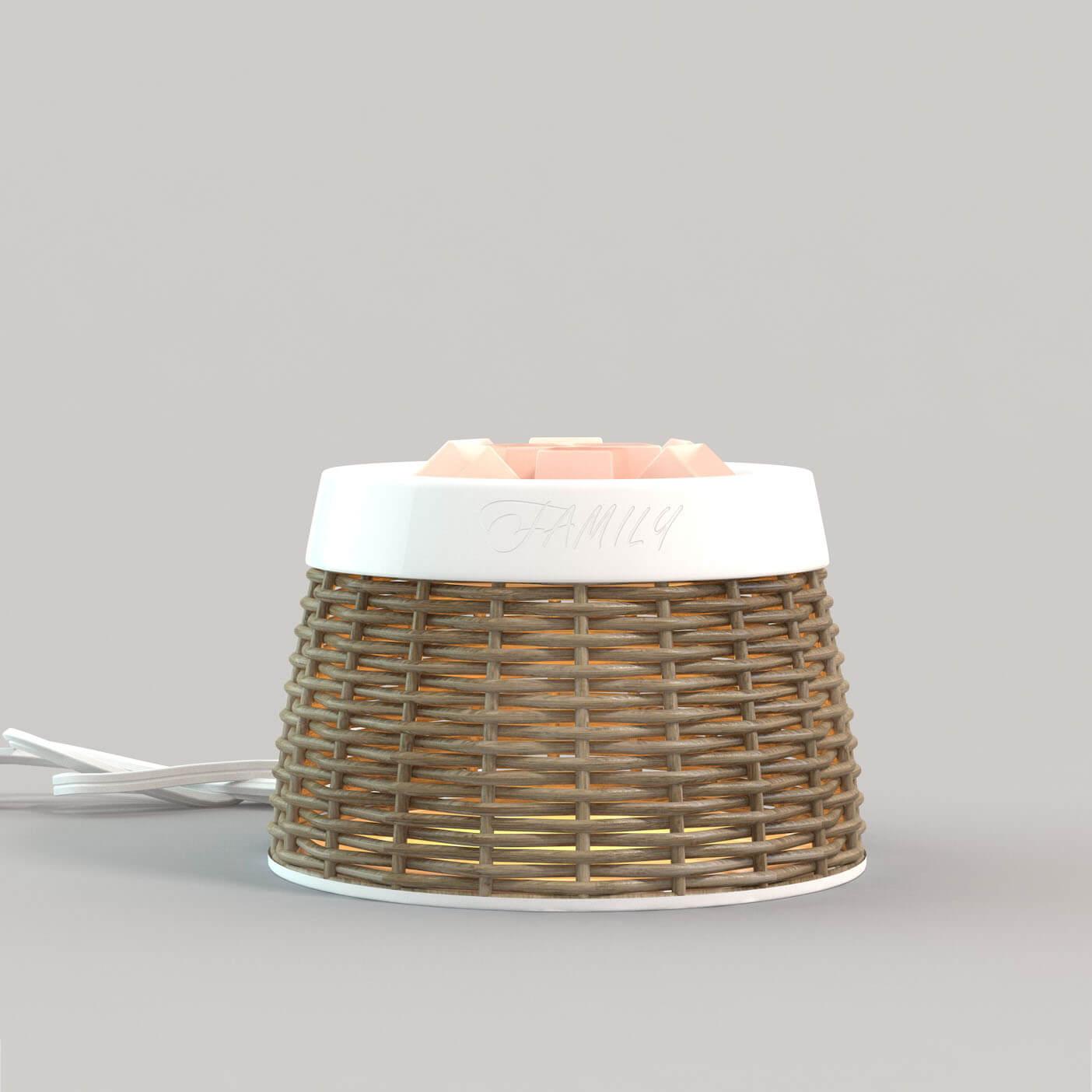 Rattan Cover Ceramic Electric Fragrance Warmer GLEA2139-Z